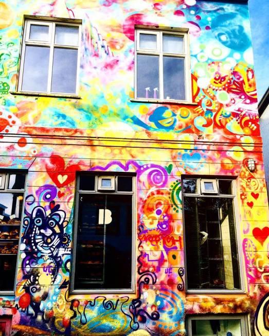 Colorful cafe Reykjavik