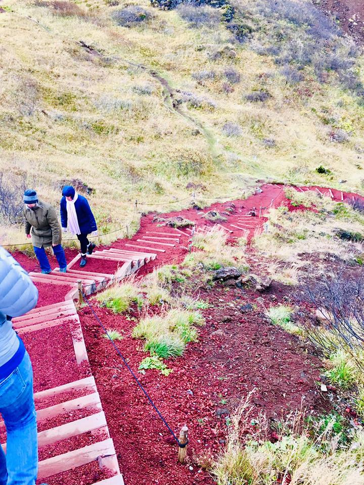 Kerid Crater path