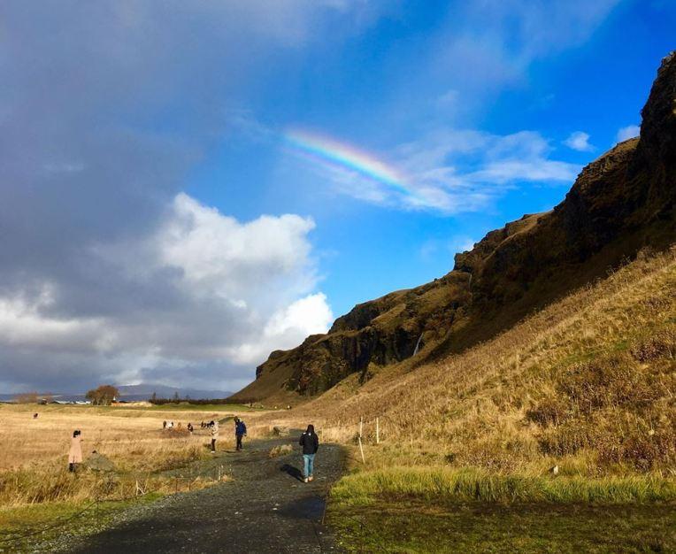 Rainbow at Seljalandsfoss